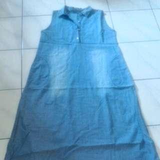 Soft Denim Long Dress