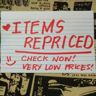ITEMS REPRICED for a very low prices!!