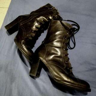 Misope Heel Boots, Real Leather!