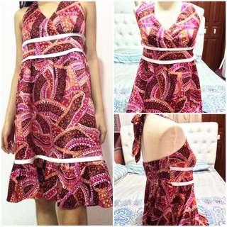 Halter Batik Dress
