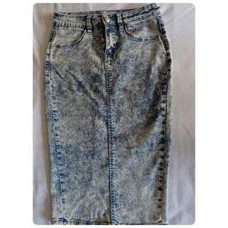 New Look Midi Skirt Jeans