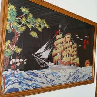 Picture Art Piece with Photo Frame