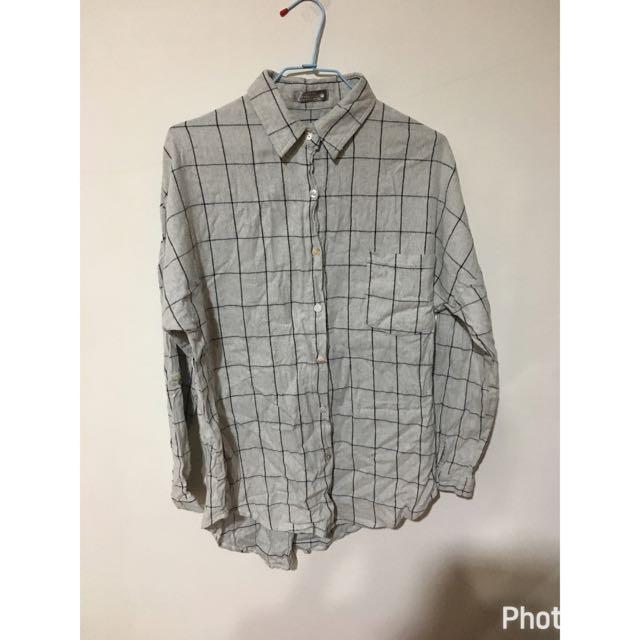 ✨灰格子襯衫✨