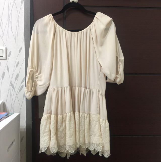 韓國購入雪紡長版上衣