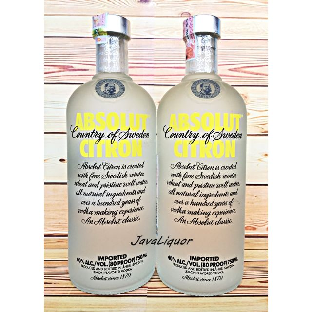Absolut Citron Flavour Sweden Vodka ORIGINAL 100%