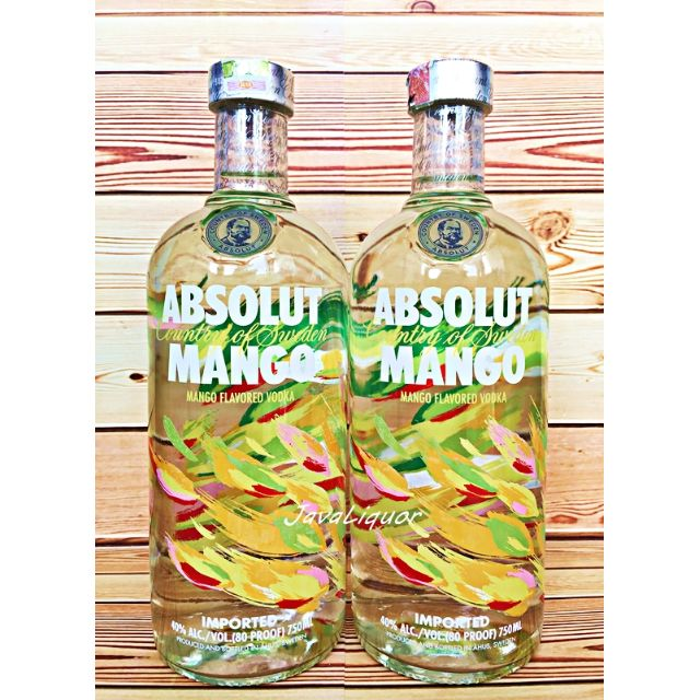 Absolut Mango Flavour Sweden Vodka ORIGINAL 100%
