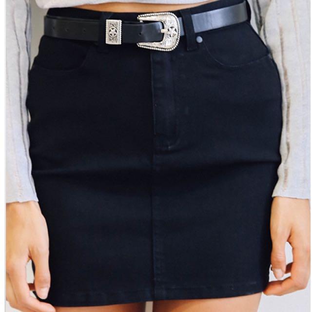 Afends Black Skirt