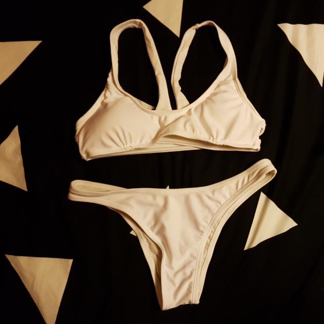 All White bikini Set