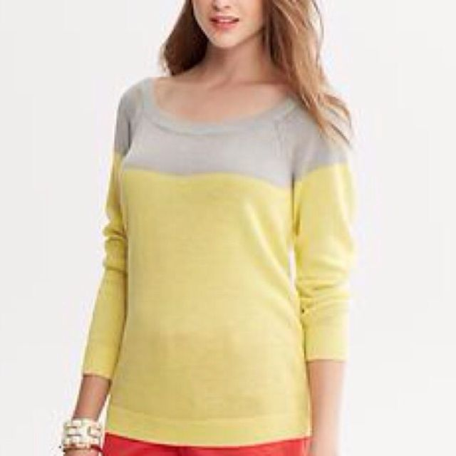 Banana Republic Colorblock Sweater, Size XS Petite