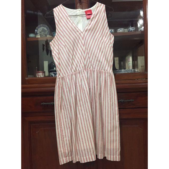 Bayo Red Striped Dress