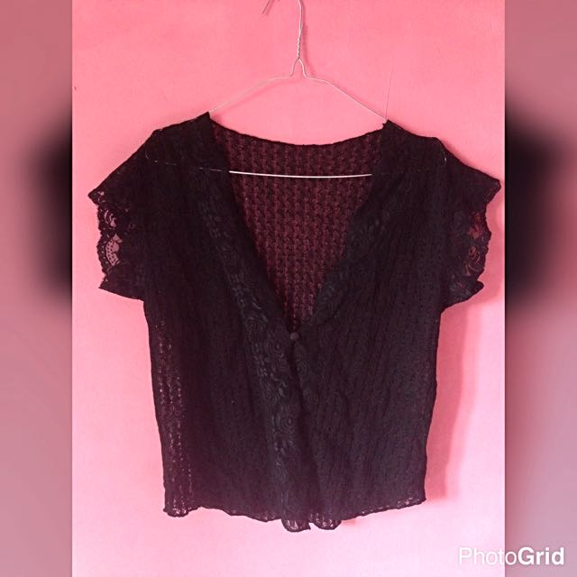 Black Lace Cardi