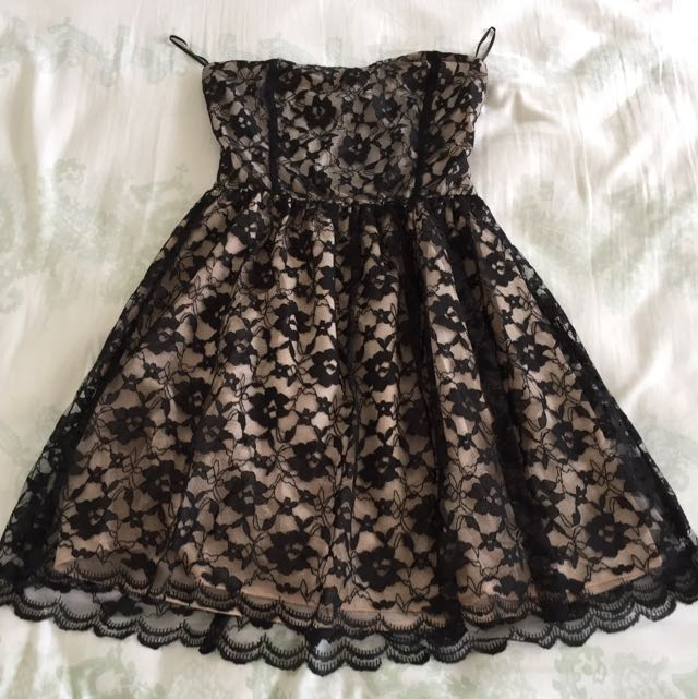 Black Lace Dress New Look