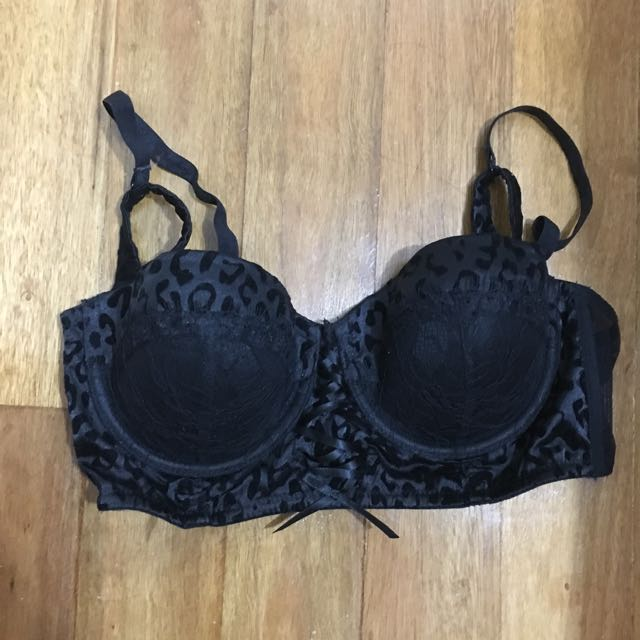 Black Playboy Bra 12C