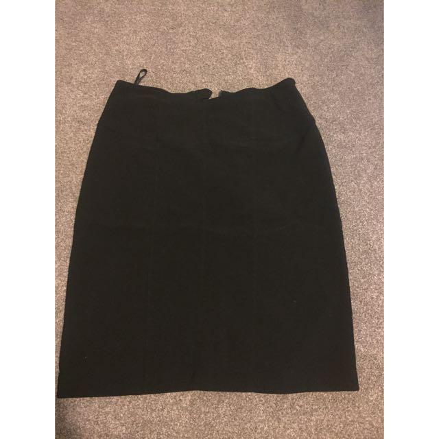 Black Work Skirt
