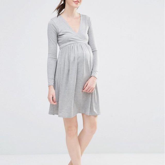 BNWT Gray Maternity Dress