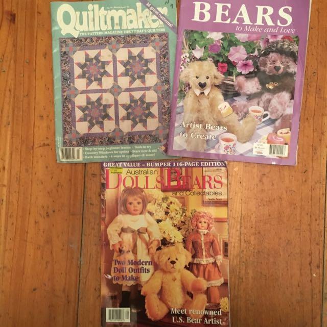 Bulk Lot Of 3 Craft Magazines