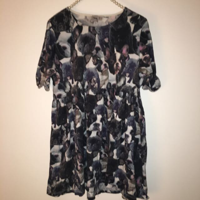 Bulldog print Dress #under20