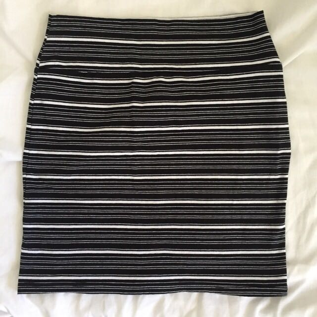 B&W striped skirt
