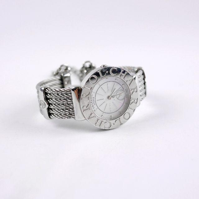 可議價 CHARRIOL 夏利豪 珍珠 腕錶 30毫米 石英表 珍珠 不鏽鋼 手錶 女生 鋼索【ST30CS.560.006.】
