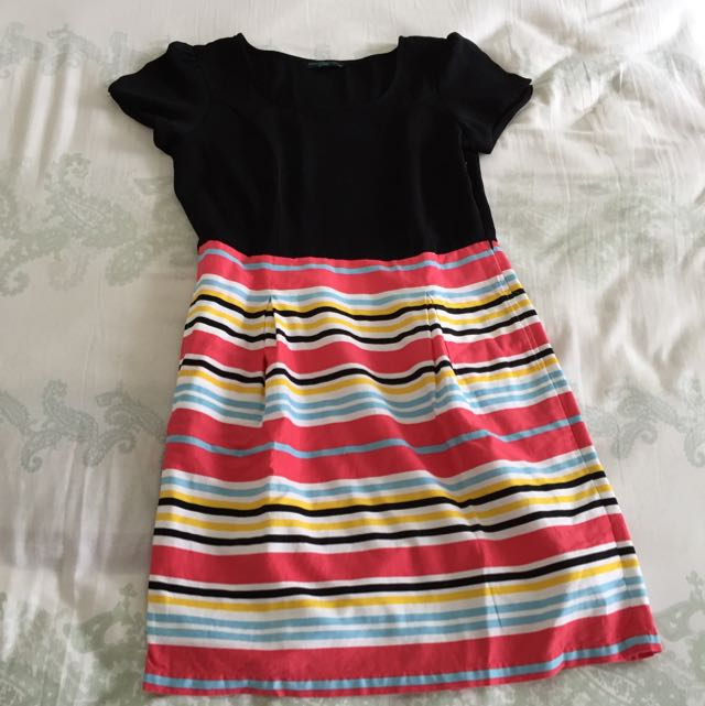 Contempo Rainbow Dress Size L