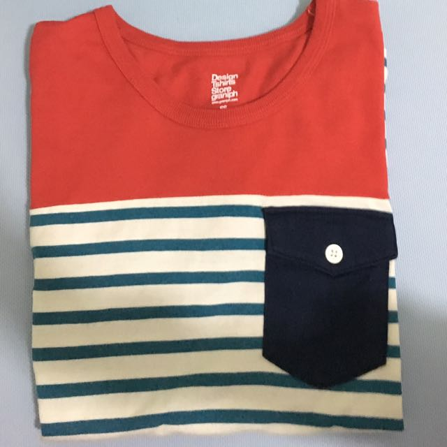 Design Tshirt store graniph 條紋T恤 設計感 ss號