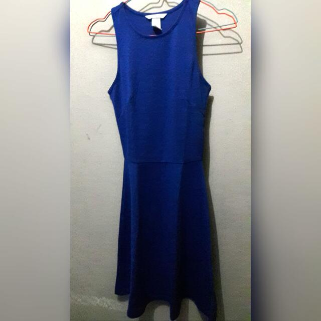 dress h&m blue
