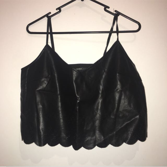 Forever 21 Leather Crop