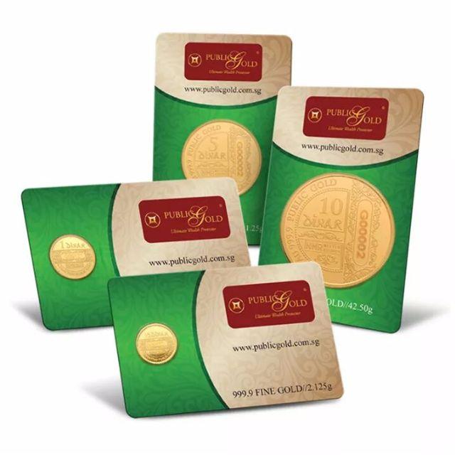 Gold Dinar 1/2Dinar, 1 Dinar, 5 Dinar & 10 Dinar