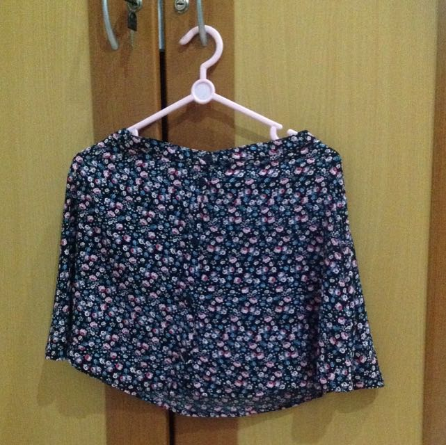 Hm Floral Buttoned Up Skirt
