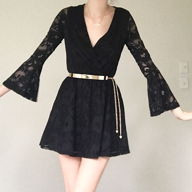 Ice Black Lace Dress