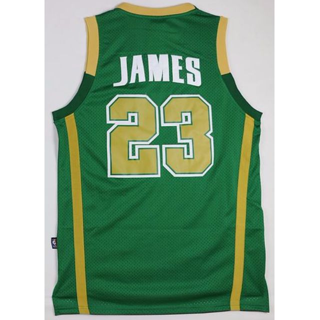 the latest 93230 af7c1 St.Vincent-St.Mary High School LeBron James #23 Green Irish ...