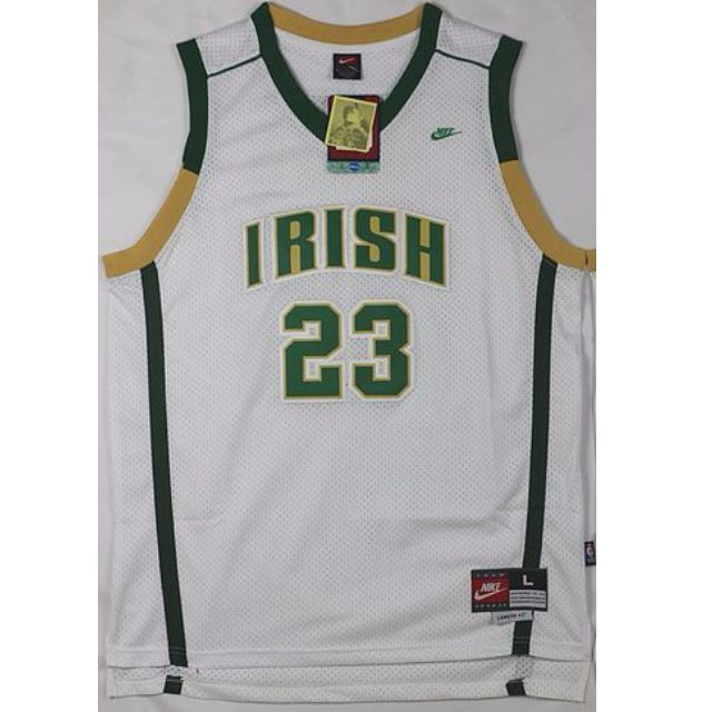 sneakers for cheap 4ae6f 6dbcb St.Vincent-St.Mary High School LeBron James #23 White Irish ...