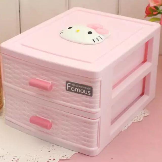 Kitty雙層收納盒