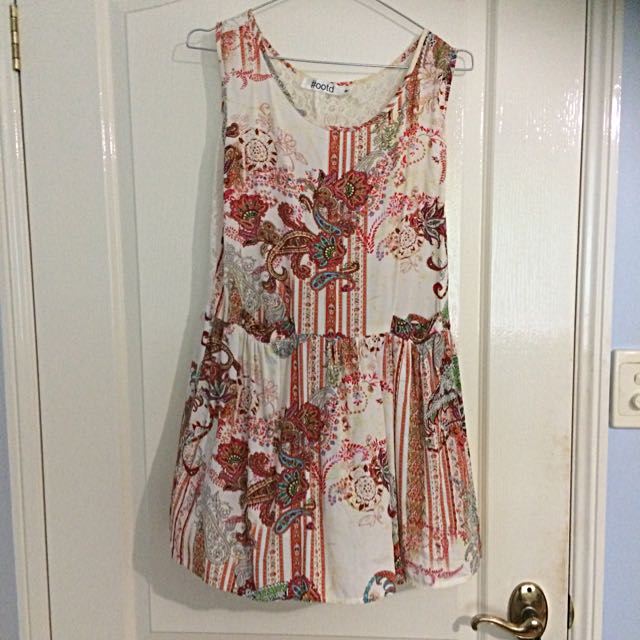 Lace Back Flowy Dress