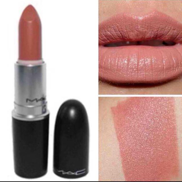 mac lipstick matte (velvet teddy shade), health & beauty, makeup on