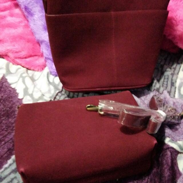 maroon. sling bag