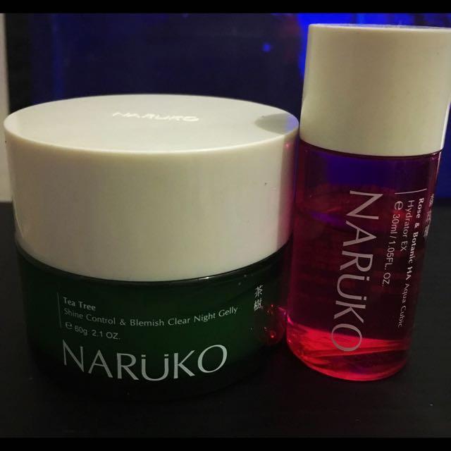 Naruko Bundle (Tea Tree Night Gelly + Rose Hydrator)