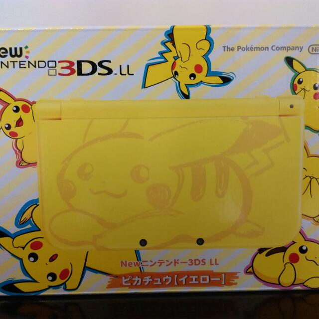 New 3DS LL 皮卡丘限定版 精靈寶可夢 太陽月亮 Pokemon 全新未拆 日規