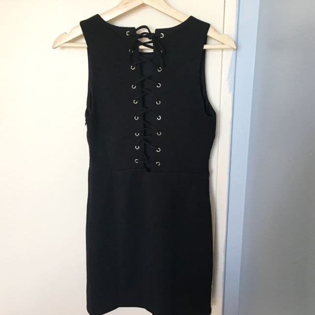 NEW Forever 21 Lace-up Dress