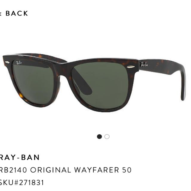 Authentic Ray Ban Wayfarer Tortoiseshell Sunglasses