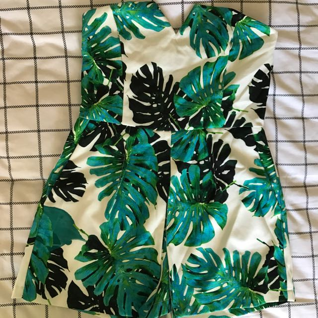 Palm Tree Play Suit Sz 8-10