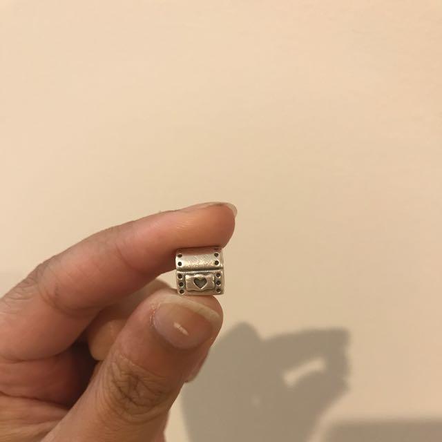 Pandora Silver Heart Chest Charm