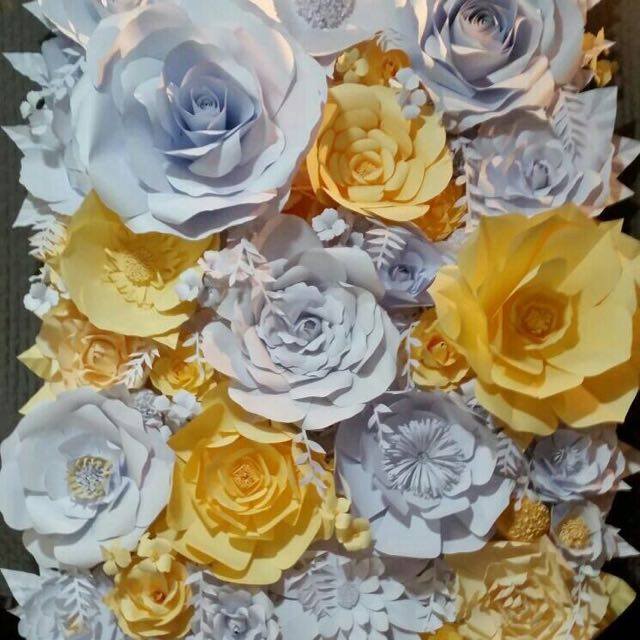 Reprice paper flower backdrop for sale design craft art paper flower backdrop for sale design craft art prints on carousell mightylinksfo