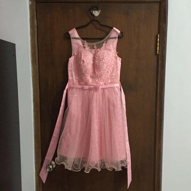 Pink Princess Gown (Dress Pendek Merah Muda)