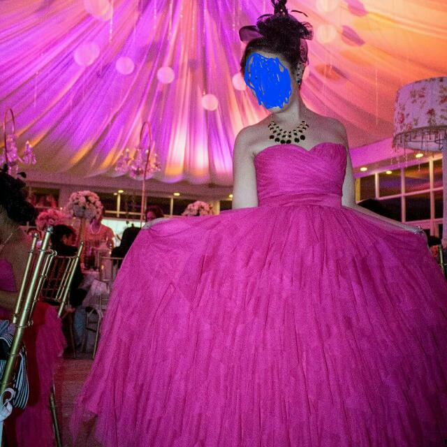 Pink Tube Ball Gown