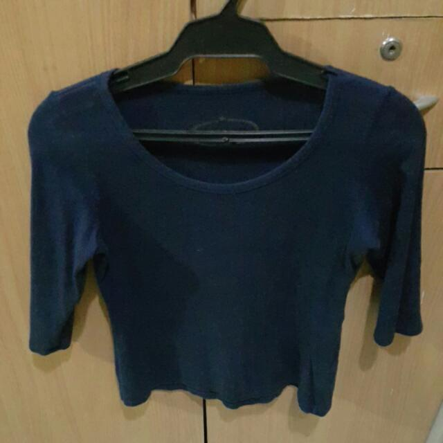 Plains And Prints Navy Blue Top