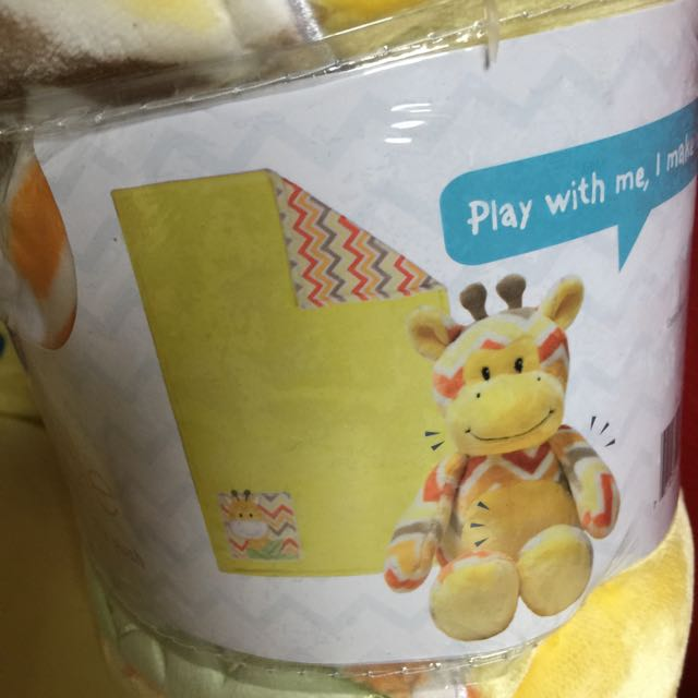 Play & Cuddle Reversible Blanket With Plush Toy.
