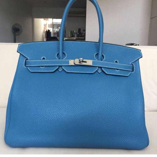a8e61fa74fc8 ... denmark preowned hermes birkin 35 bleu jean phw luxury bags wallets on  carousell 8bc00 5663a