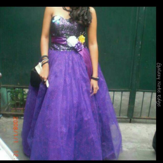 REPRICED Purple Ballgown