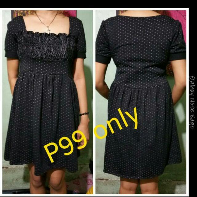 REPRICED simple Black Dress